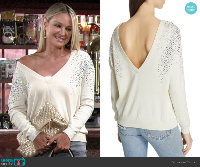 ba&sh Fore Sweater worn by Sharon Collins (Sharon Case) on The Young & the Restless