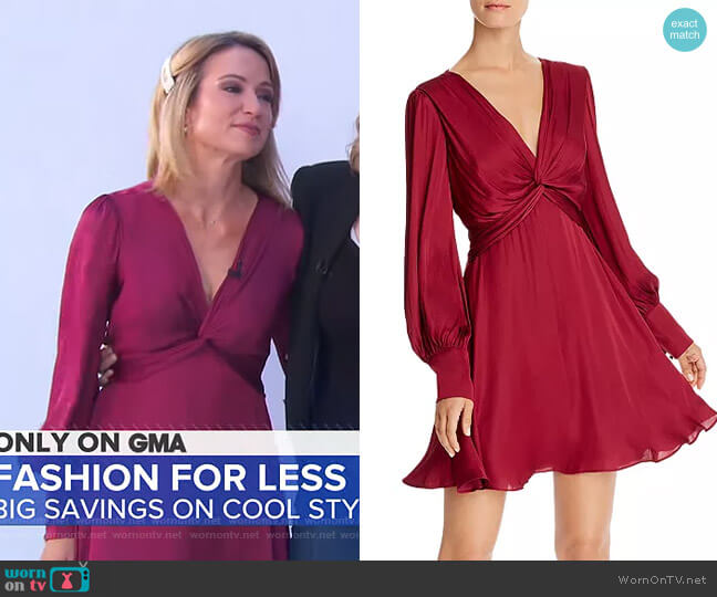 Claire Dress by Bardot worn by Amy Robach  on Good Morning America