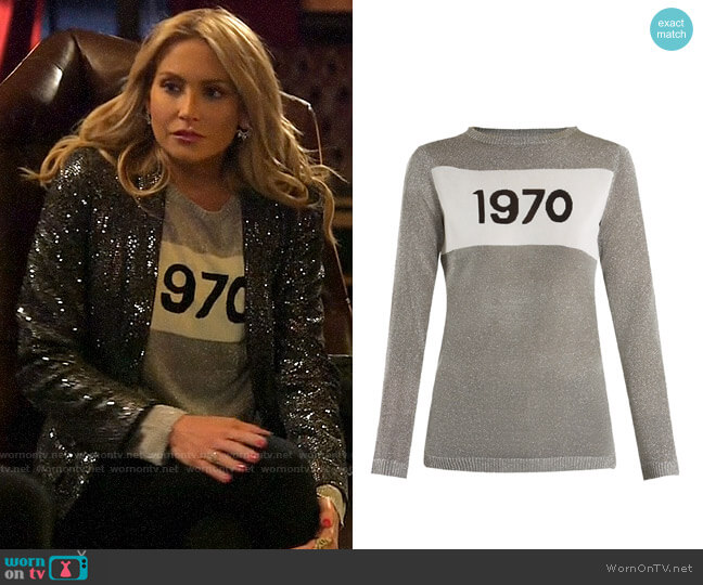 Bella Freud 1970 Intarsia-knit Sweater worn by Stephanie Pratt  on The Hills New Beginnings
