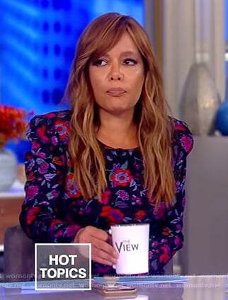 Sunny's black floral dress on The View