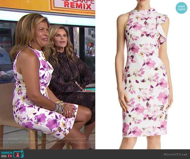 Pabla Floral-Printed Dress by Black Halo worn by Hoda Kotb  on Today