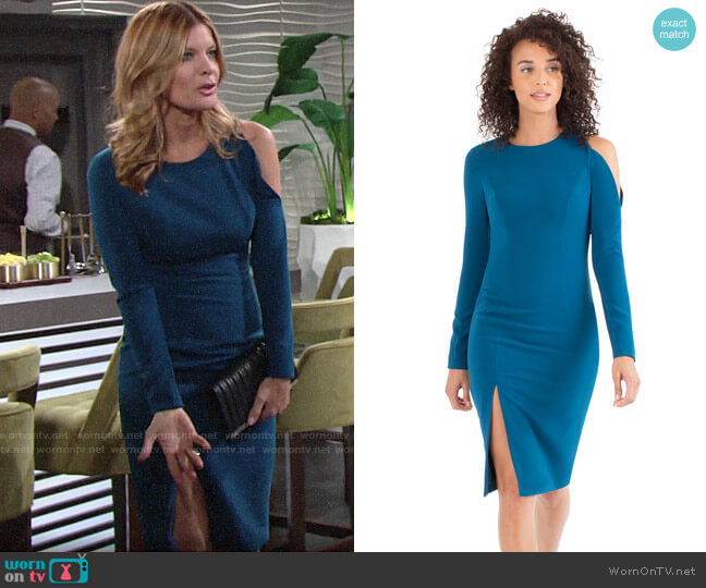 Black Halo Covina Dress worn by Phyllis Summers (Michelle Stafford) on The Young & the Restless