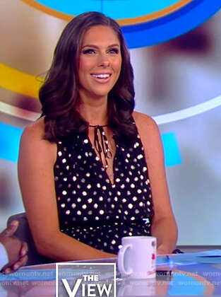 Abby's black metallic polka dot top on The View