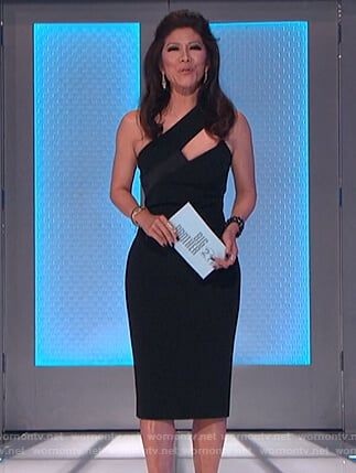 Julie's black sleeveless cutout dress on Big Brother