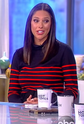 Abby's striped turtleneck sweater on The View