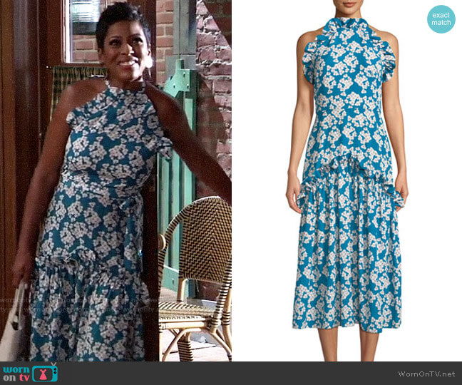 Borgo de Nor Dora Dress worn by Tamron Hall on General Hospital