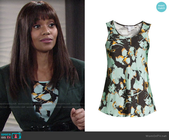 BOSS Inolea Top worn by Amanda Sinclair (Mishael Morgan) on The Young & the Restless