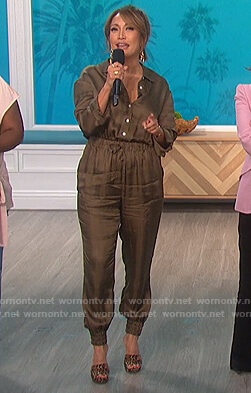 Carrie's satin jumpit on The Talk