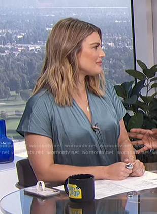 Carissa's satin wrap top on E! News