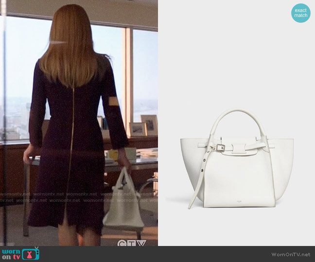 Celine Small Big Bag with Long Strap in Supple Grained Calfskin worn by Donna Paulsen (Sarah Rafferty) on Suits