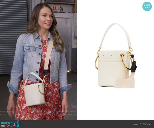 Roy Mini Leather Bucket Bag by Chloe worn by Liza Miller (Sutton Foster) on Younger