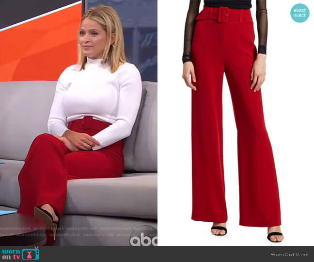 Eliza Trousers by Cinq a Sept worn by Sara Haines  on Good Morning America