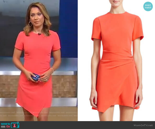 Imogen Wrap Dress by Cinq a Sept worn by Ginger Zee  on Good Morning America