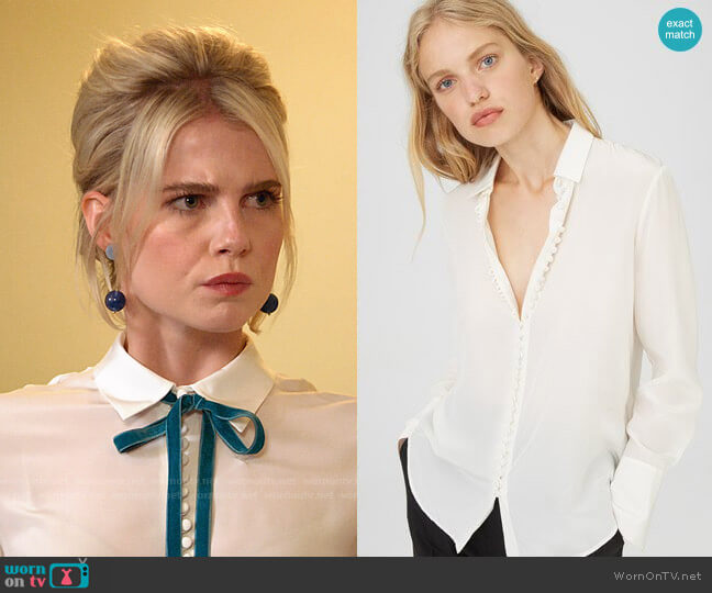 Club Monaco Helek Shirt worn by Astrid (Lucy Boynton) on The Politician