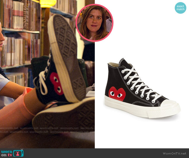 Comme des Garcons PLAY x Converse Chuck Taylor®  Hidden Heart High Top Sneaker worn by McAfee (Laura Dreyfuss) on The Politician