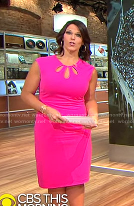 Dana's pink cutout dress on CBS This Morning