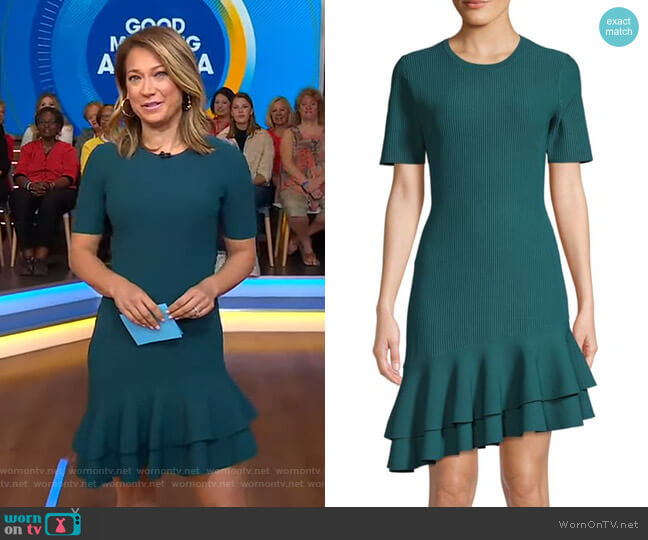 Adeline Dress by Diane von Furstenberg worn by Ginger Zee  on Good Morning America