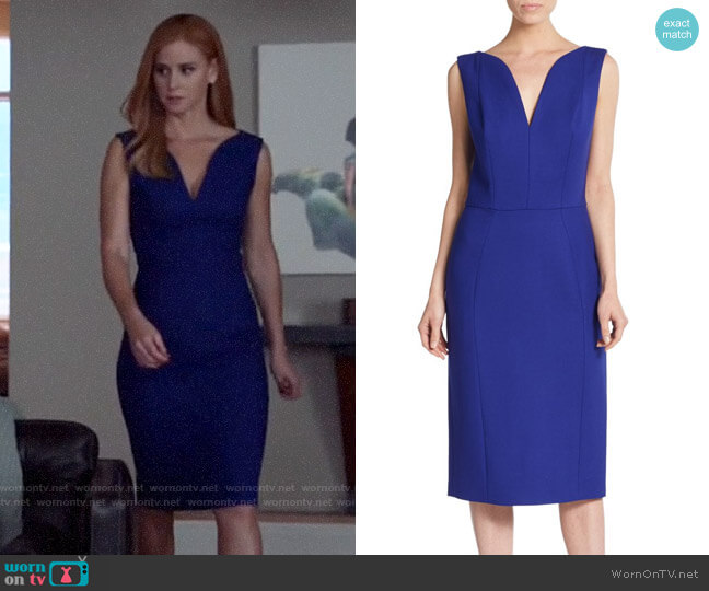 Dior Wool Seamed Sheath Dress worn by Donna Paulsen (Sarah Rafferty) on Suits