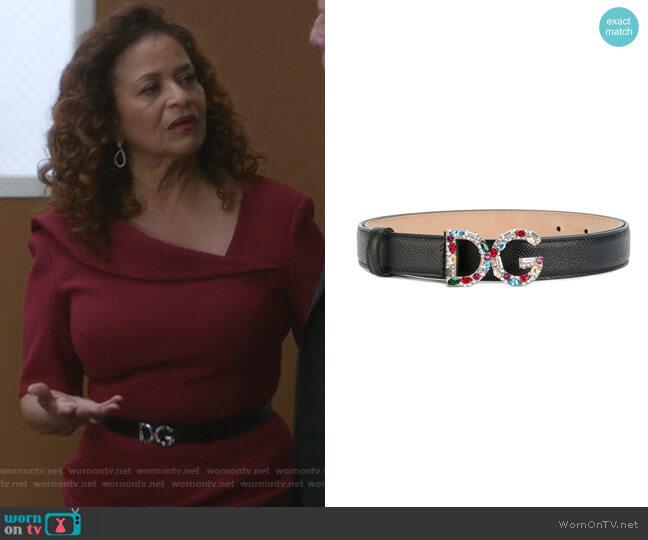 Logo Plaque Belt by Dolce & Gabbana worn by Catherine Avery (Debbie Allen) on Greys Anatomy