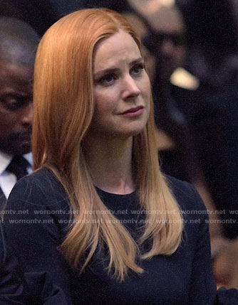 Donna's black bow sleeve dress on Suits