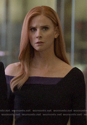 Donna's black and purple dress on Suits