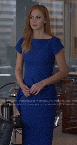 Donna's blue peplum dress on Suits