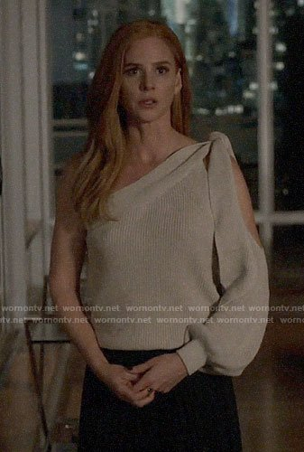 Donna's one-shoulder sweater on Suits
