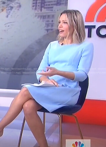 Dylan's light blue a-line dress on Today