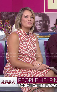 Dylan's printed mock neck maternity dress on Today