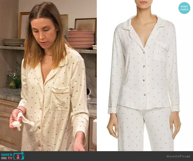 Eberjey The Giving Palm PJ Set worn by Whitney Port  on The Hills New Beginnings