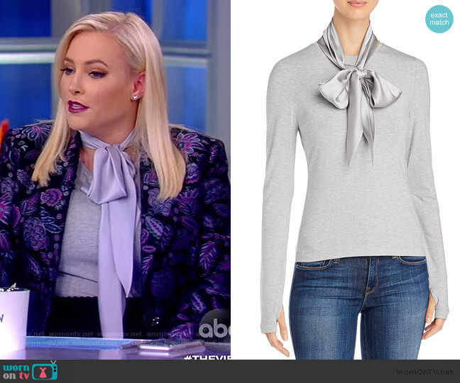 Elisandra Knit Tie-Neck Top by Elie Tahari worn by Meghan McCain  on The View
