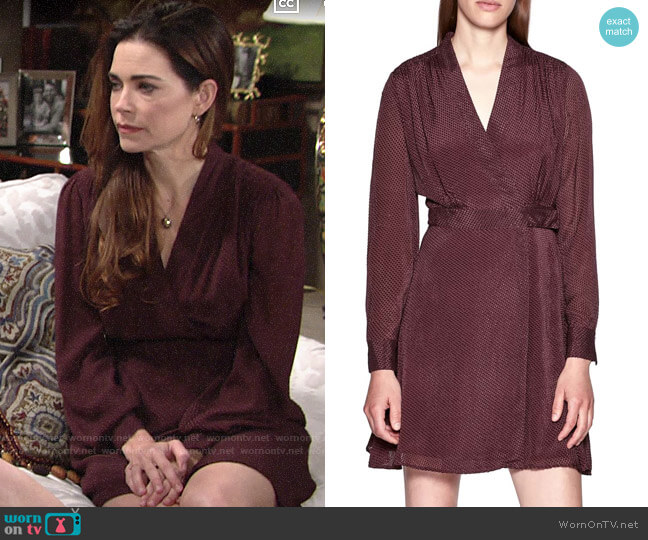 Equipment Allaire Dress worn by Victoria Newman (Amelia Heinle) on The Young & the Restless