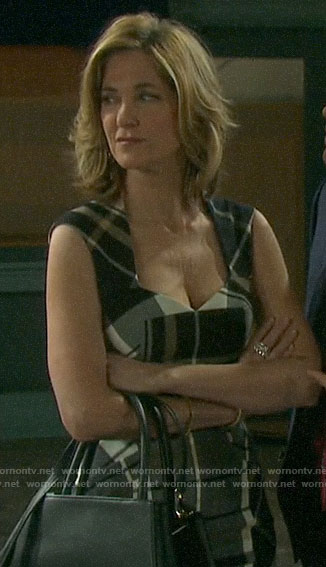 Eve's plaid dress on Days of our Lives