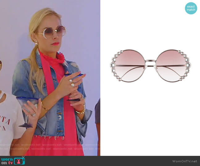 58mm Round Sunglasses by Fendi worn by Kameron Westcott  on The Real Housewives of Dallas