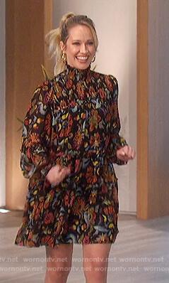 Anna Camp's floral mini dress on The Talk