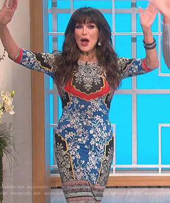 Marie's floral print sheath dress on The Talk