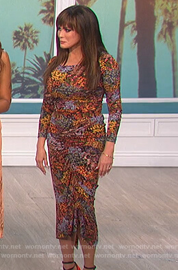 Marie's floral ruched top and skirt on The Talk