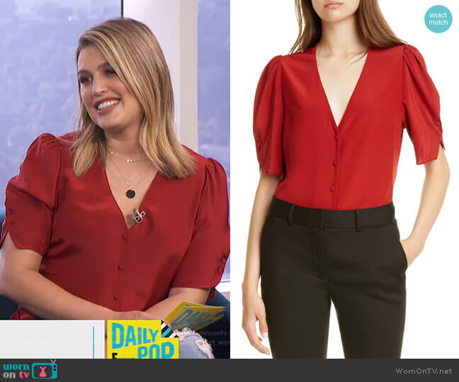 Olivia Top by Frame worn by Carissa Loethen Culiner  on E! News