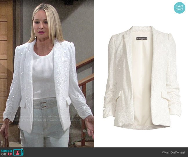 Generation Love Serafina Sequin Blazer  worn by Sharon Collins (Sharon Case) on The Young & the Restless