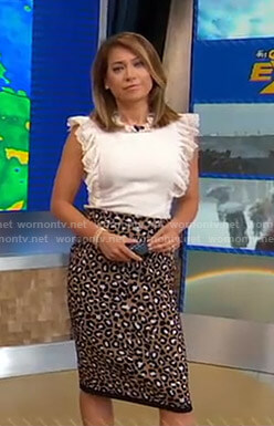 Ginger's leopard print skirt on Good Morning America