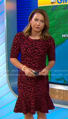 Ginger's red leopard print dress on Good Morning America