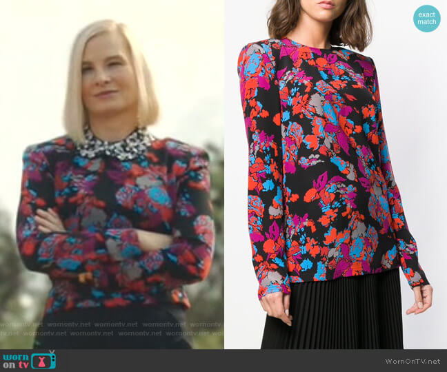 Floral Print Top by Givenchy worn by Melinda Page Hamilton on The Resident