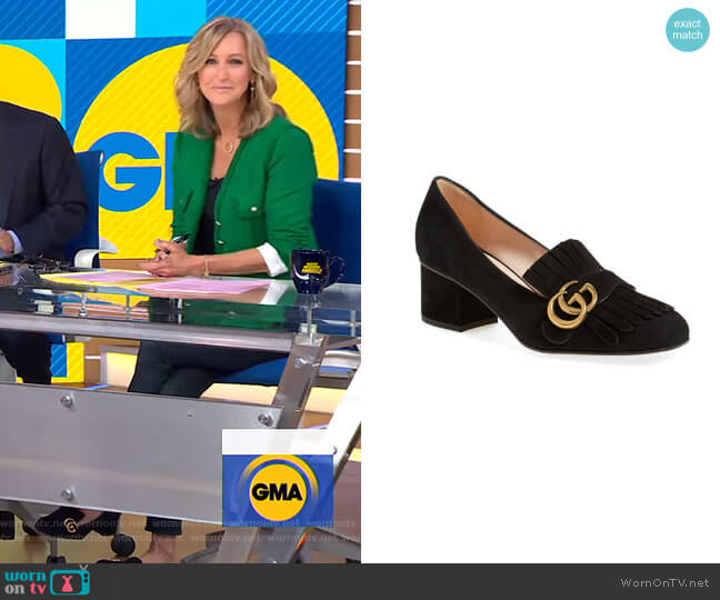 GG Marmont Pump by Gucci worn by Lara Spencer  on Good Morning America