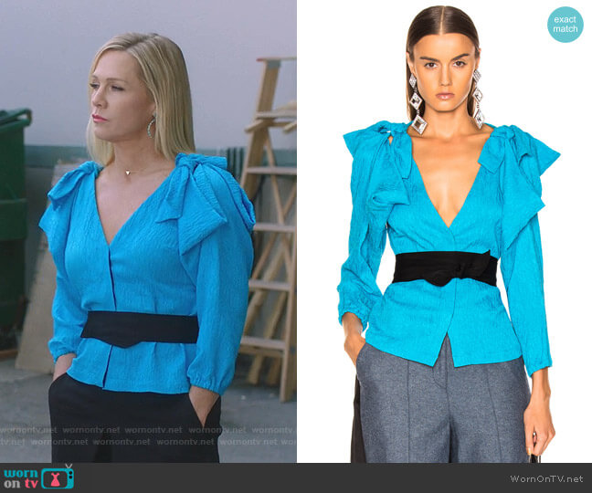 Ocean Drive Blouse by Hellessy worn by Jennie Garth  on BH90210