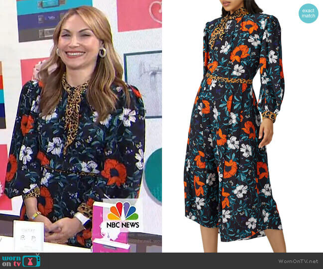 Floral Casper Dress by Hunter Bell worn by Lori Bergamotto on Today Shows
