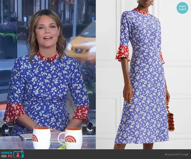 Ashley Midi Dress by HVN worn by Savannah Guthrie  on Today