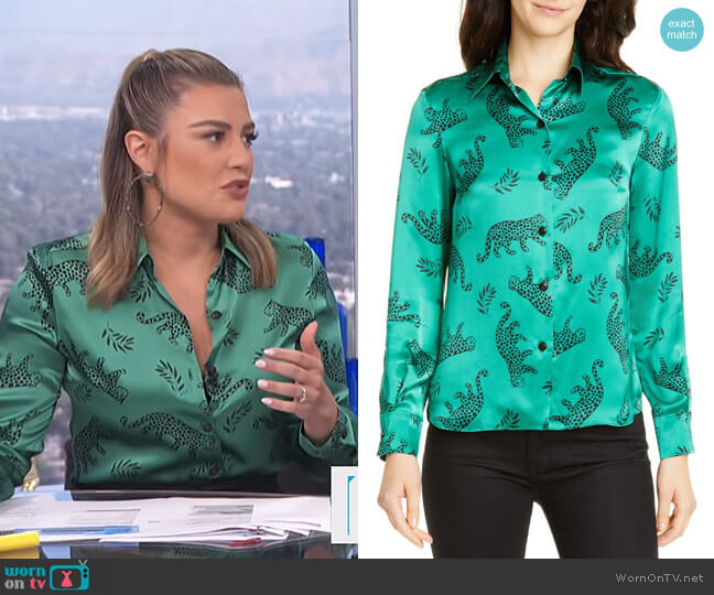 Cristina Silk Blouse by HVN worn by Carissa Loethen Culiner  on E! News