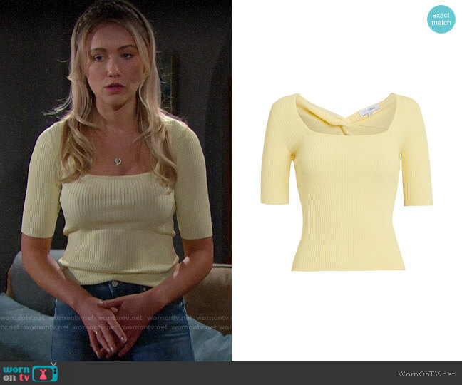 Intermix Louise Top worn by Florence (Katrina Bowden) on The Bold & the Beautiful