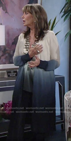 Jill's ombre top and cardigan set on The Young and the Restless