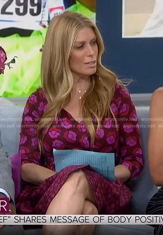 Jill's purple floral wrap dress on Today